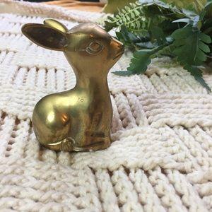 Vintage brass deer figure
